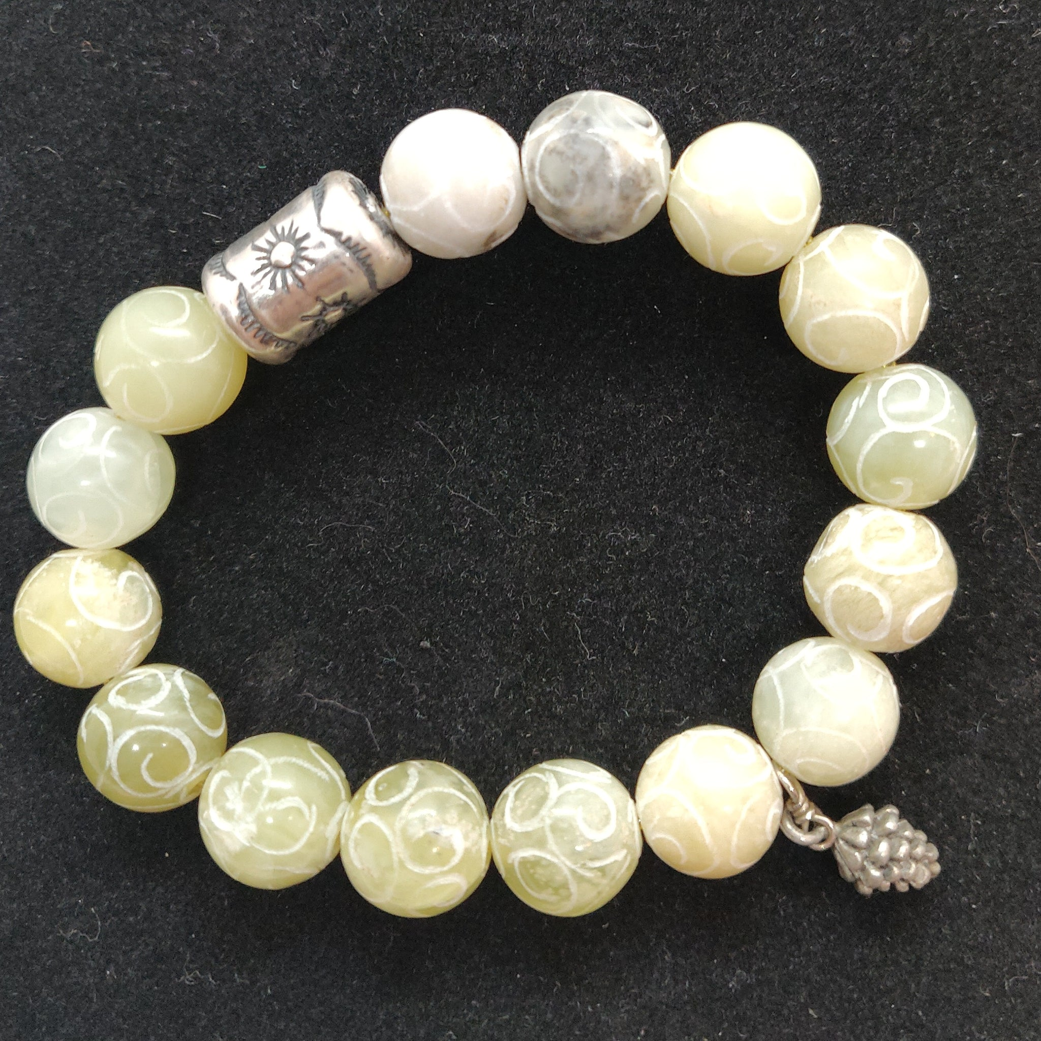 Green Carved New Jade Bracelet