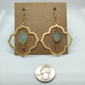 Gold with Chalcedony Drops