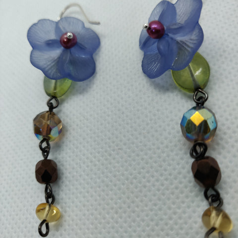 Purple Posy Earrings