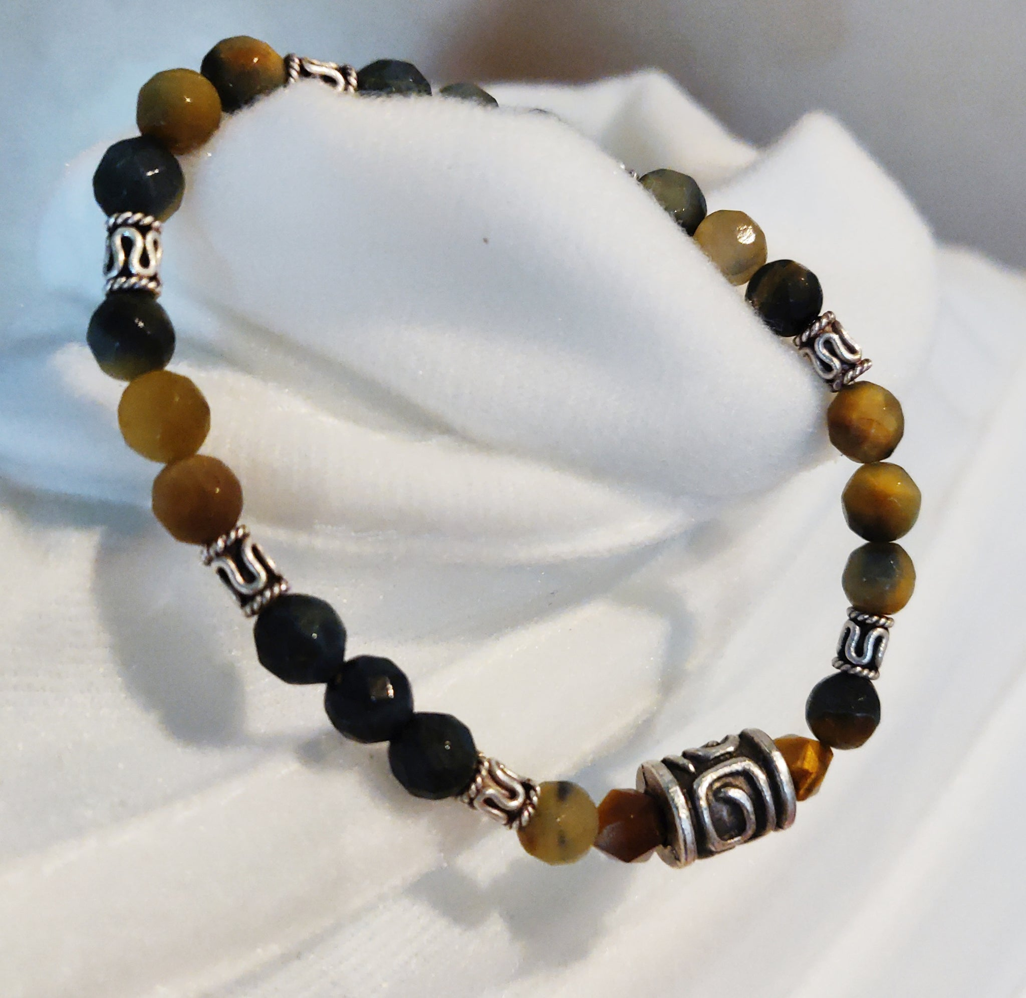 Tiger's Eye and Silver Bracelet