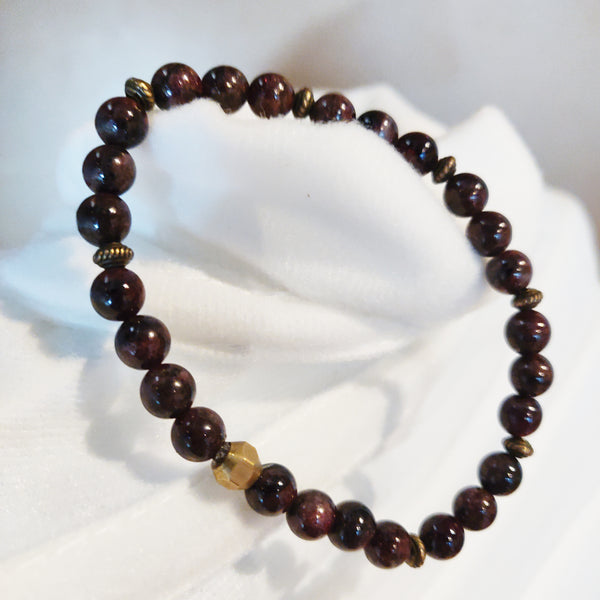 Brass and Agate Bracelet