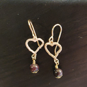 Smoky Quartz Heart Earrings