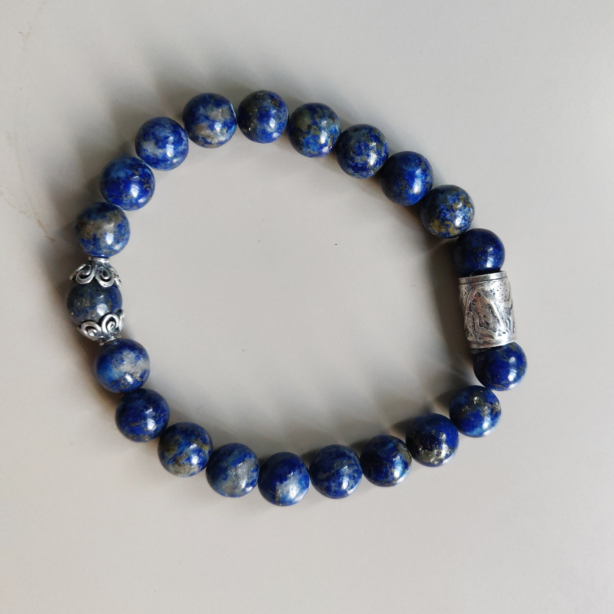 Lapis Lazuli and Sterling Silver Bracelet