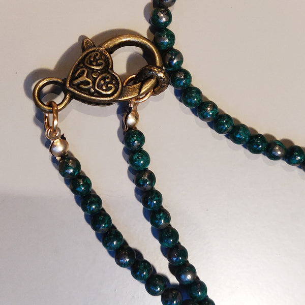 Inspiration Necklace: Golden Malachite