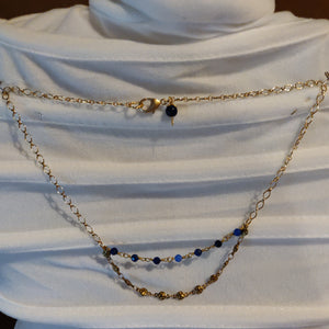 Multi-Level Lapis Necklace
