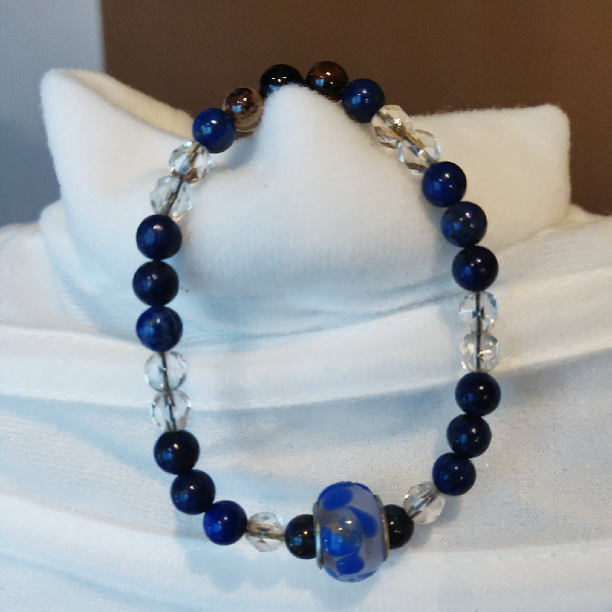 Quartz and Lapis Bracelet