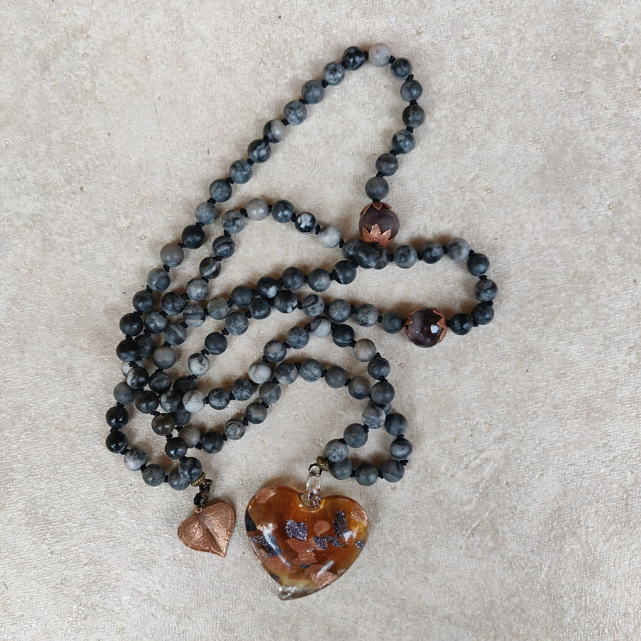 Glass Heart Mala