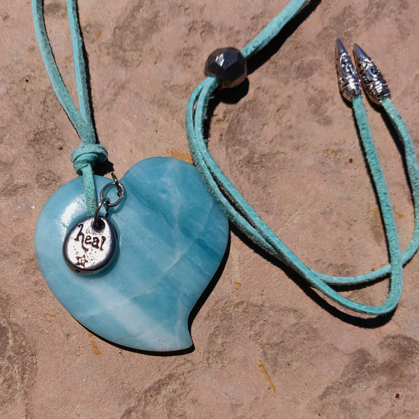 Blue Heart Adjustable Necklace