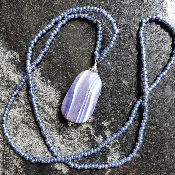 SOLD: Purple Agate Inspiration Necklace