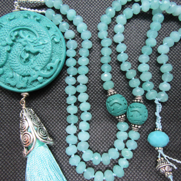 SOLD:  Blue Chalcedony and Turquoise Cinnabar