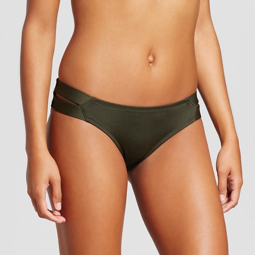 Mossimo Women's Double Strap Hipster Bikini Bottom | Medium | Olive
