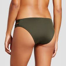 Load image into Gallery viewer, Mossimo Women's Double Strap Hipster Bikini Bottom | Medium | Olive