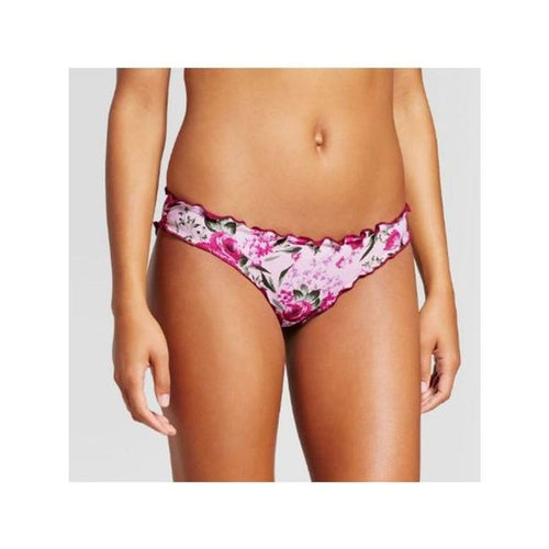 Mossimo Women's Hipster Bikini Bottom | Medium | Deep Red Floral