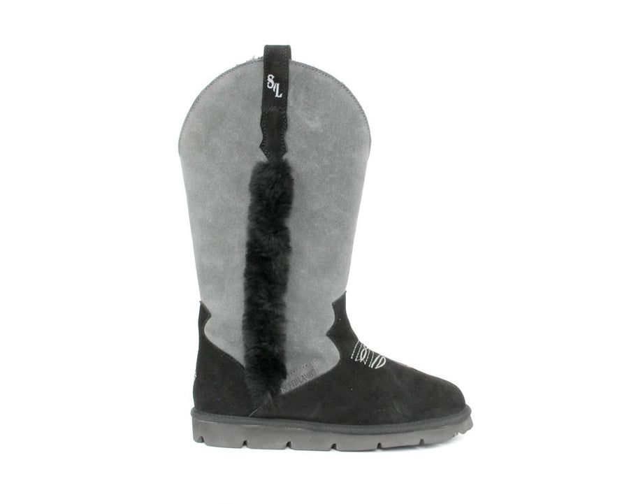 Cowboy Boot - Charcoal