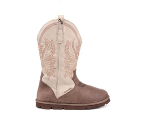 Cowboy Boot - Clay/Beige