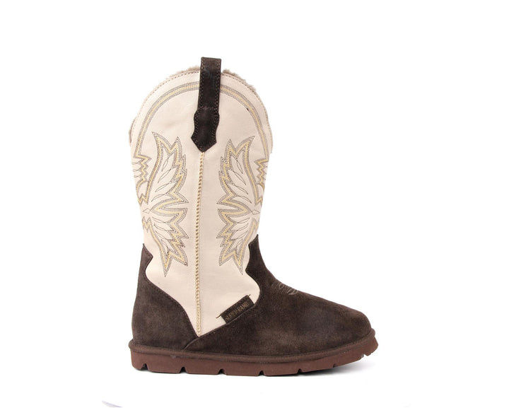 Cowboy Boot - Espresso/Cream