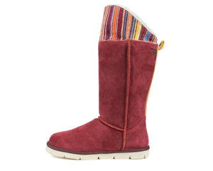 Mongol Boot - Burgundy