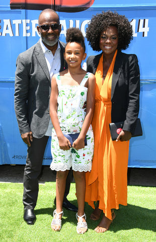 Viola Davis with husband and daughter Genesis
