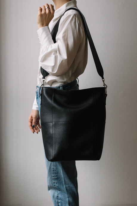 Large strap for The Meletti bag in Black