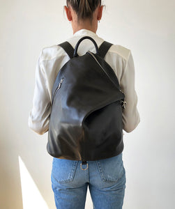 The Mercato Backpack in Dark Brown