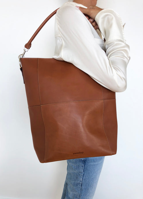 The Meletti bag in Tan