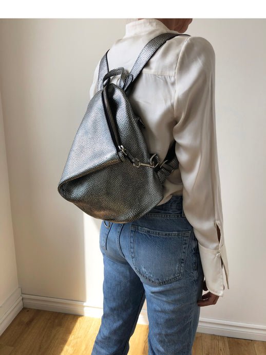 The Mercatino Backpack in Silver