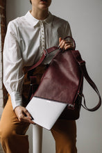 Load image into Gallery viewer, The Mercato Backpack in Amarena Wine