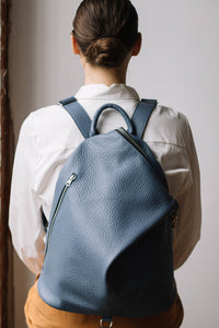 The Mercato Backpack in Bleu Ciel