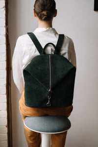 The Mercato Backpack in Pine Green