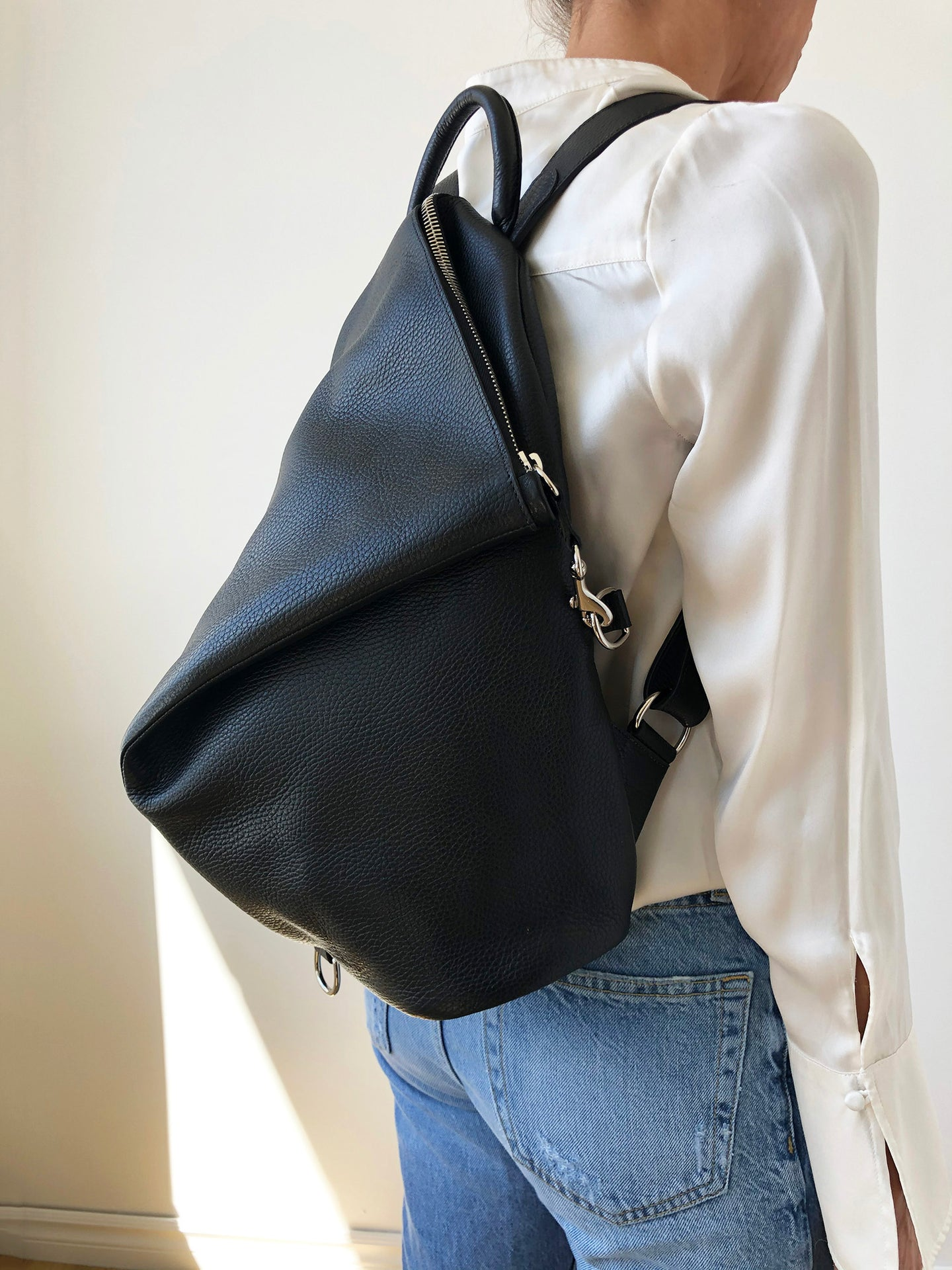 The Mercato Backpack in Black
