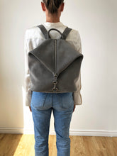 Load image into Gallery viewer, The Mercato Backpack in Soft Grey Suede