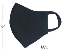 Load image into Gallery viewer, Linen washable mask in indigo M/L