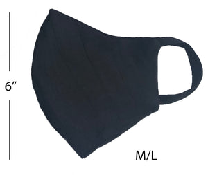 Linen washable mask in indigo M/L