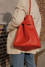 Load image into Gallery viewer, The Navona bucket bag in Bright Orange
