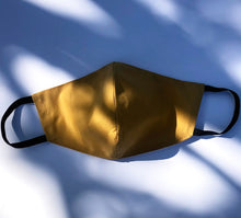 Load image into Gallery viewer, Cotton washable mask in mustard S/M