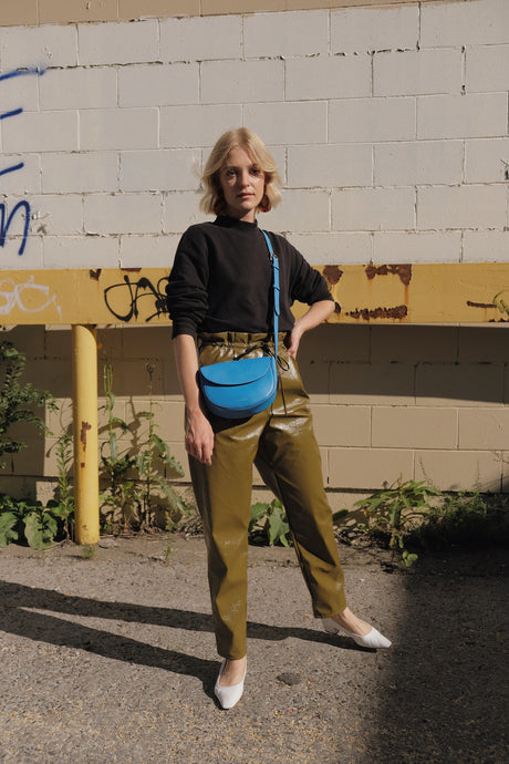 The Corsia Crossbody in Bright Blue