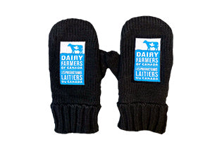 Mittens with embroidered logo