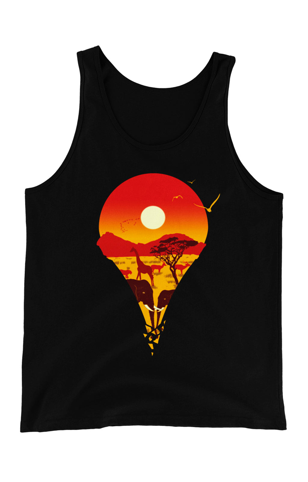 Location Marker Unisex Tank Top (Day)