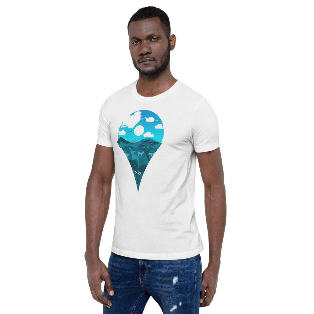 Location Marker Unisex T-Shirt (Night)