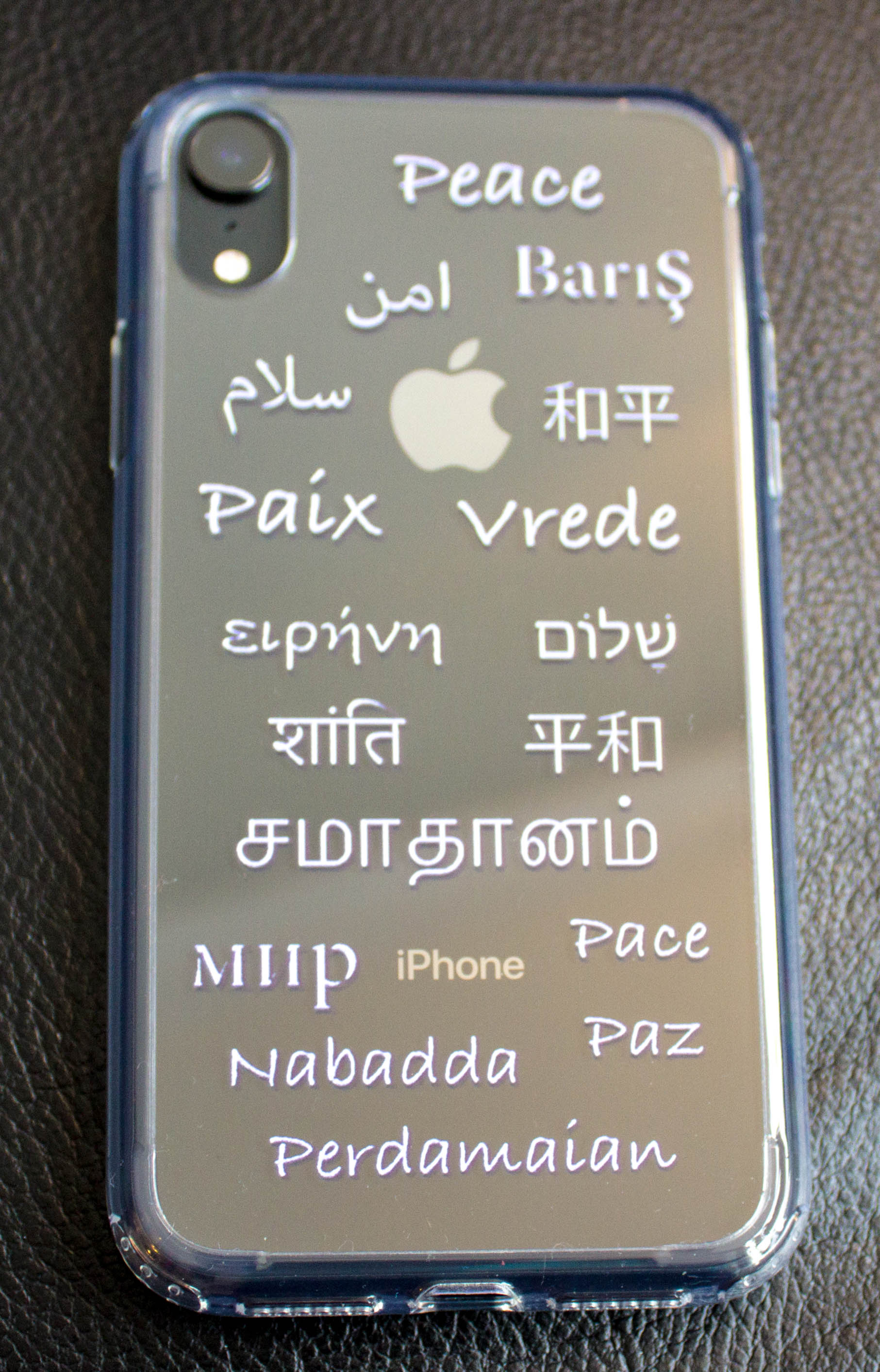 Rosy Brown Global Peace iPhone Case