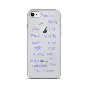 Light Gray Global Peace iPhone Case