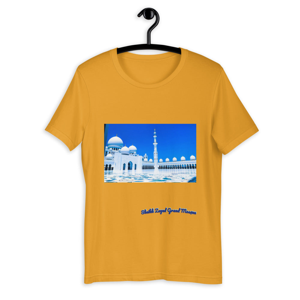 Goldenrod Men's Sheikh Zayed Grand Mosque Short-Sleeve T-Shirt