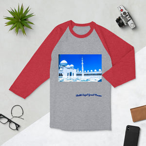 Maroon Men's Sheikh Zayed Grand Mosque 3/4 Sleeve Raglan Shirt