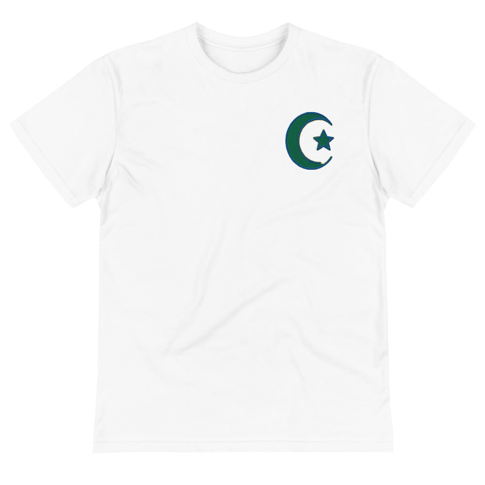 White Smoke Women's Islamic Symbol Embroidered Sustainable T-Shirt