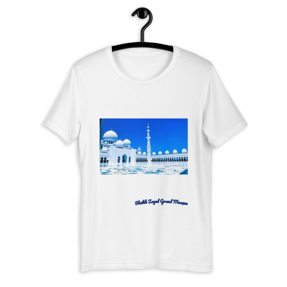 Royal Blue Men's Sheikh Zayed Grand Mosque Short-Sleeve T-Shirt