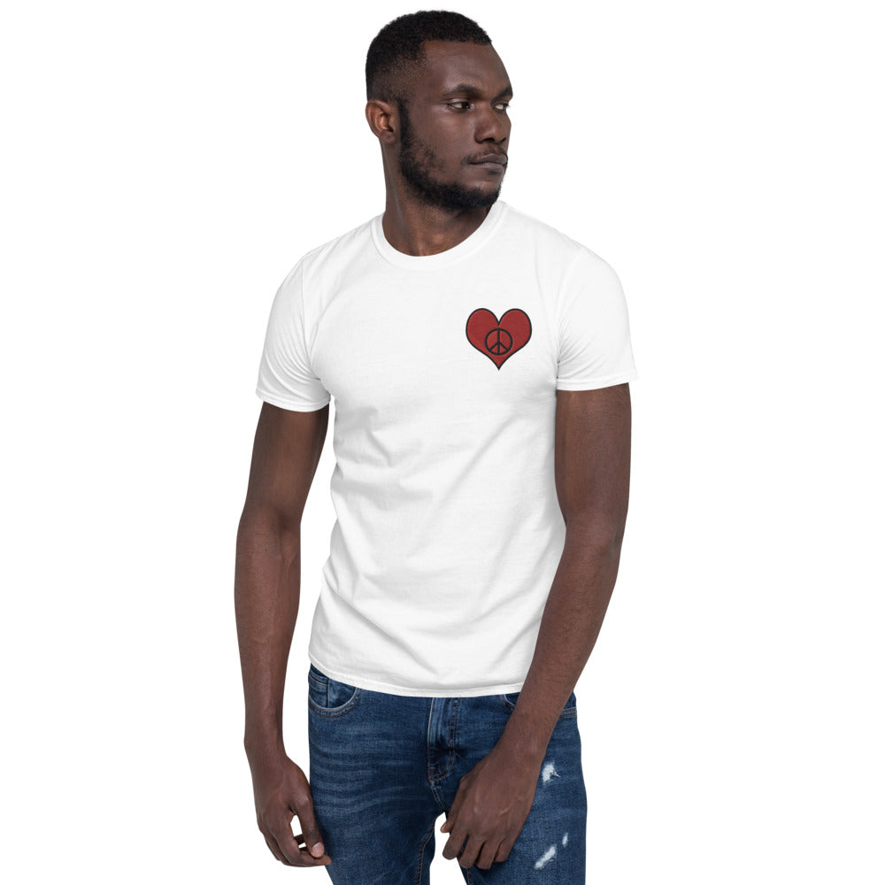 Snow Love & Peace Embroidered T-Shirt for Men