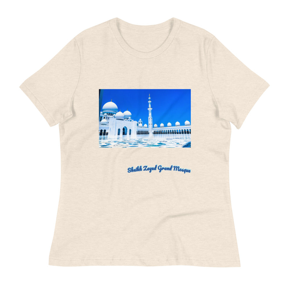 Antique White Women's Sheikh Zayed Grand Mosque Relaxed T-Shirt