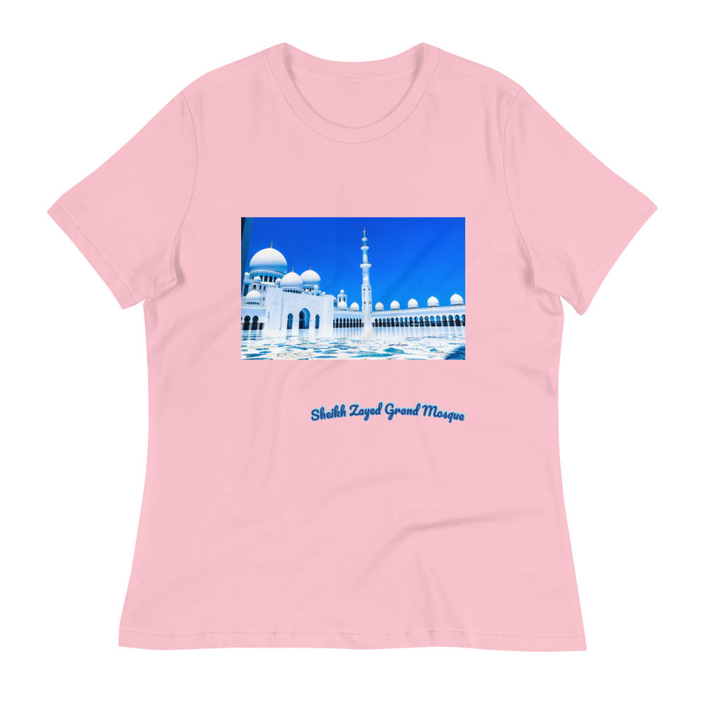 Pink Women's Sheikh Zayed Grand Mosque Relaxed T-Shirt
