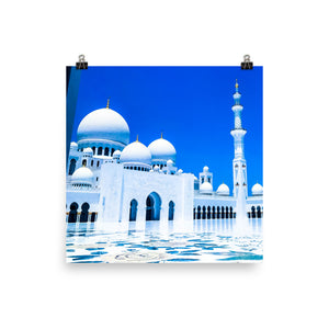 Royal Blue Sheikh Zayed Grand Mosque Poster