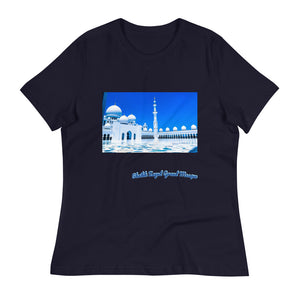 Dark Slate Gray Women's Sheikh Zayed Grand Mosque Relaxed T-Shirt